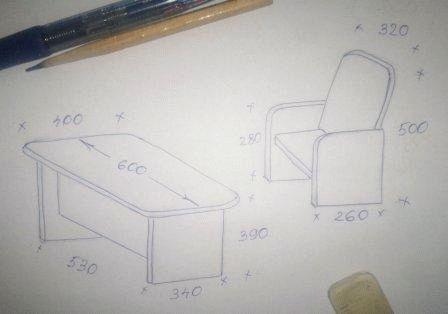 Схема стола и стула своими руками