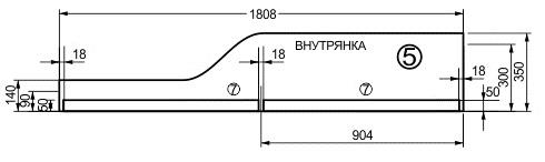 Схема присадки лицевой планки кровати