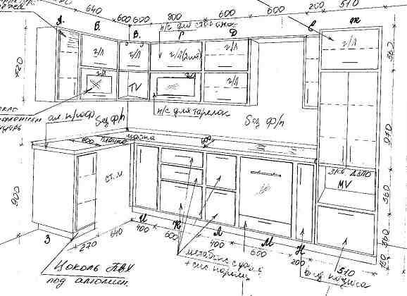 Спланируй идеальный замер кухни