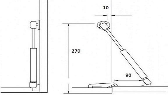 Газлифт мебельный схема