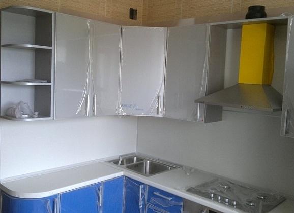 Серо синяя кухня уже рядом