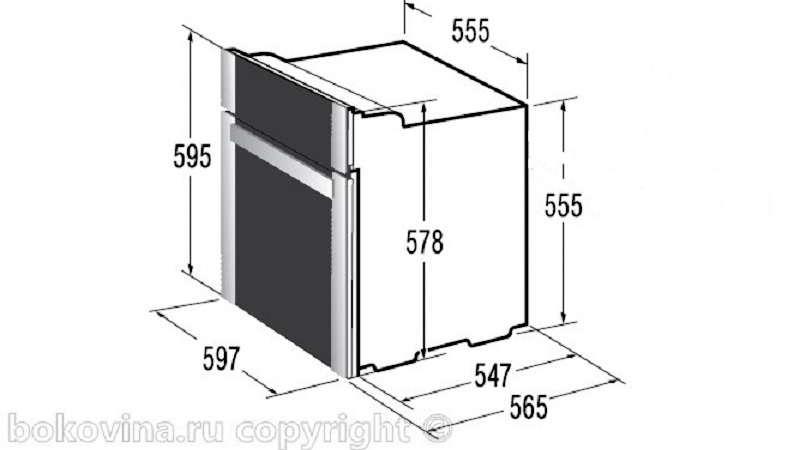 Шкаф под духовку размеры