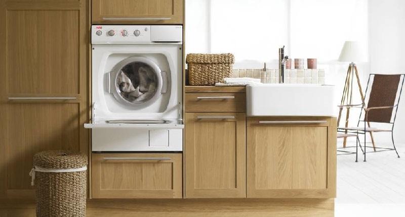 Стиральная машина на кухне встроенная